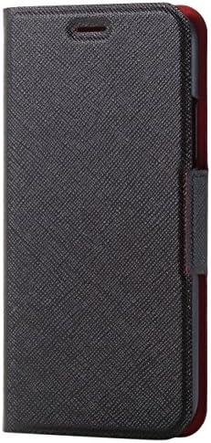 エレコム iPhone X ケース カバー 手帳型 レザー イタリアンレザー サイドマグネット Coronet ブラック PM-A17XPLFUILBK