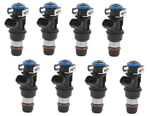 (Horsepower Upgrade - 24lbs/hr-252cc(4 Hole) Re-manufactured OEM Delphi 25317628 Fuel Injectors for 2001-2007 Chevy/Cadillac/GM 4.8 5.3 6.0L Set of 8)