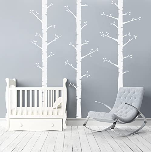 Better Thanペイント – Permanent手描きLook – White birch trees – by用紙Riot
