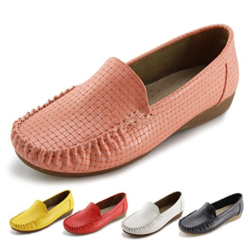 Jabasic Women's Slip-on Loafers Flat Casual Driving Shoes (10 B(M) US, Pink) by Jabasic