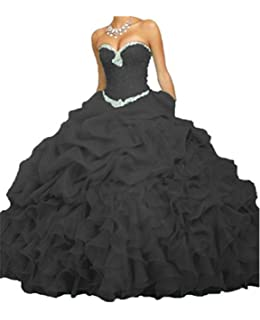 ANGELA Womens Ball Gown Organza Quinceanera Dresses Prom Gowns