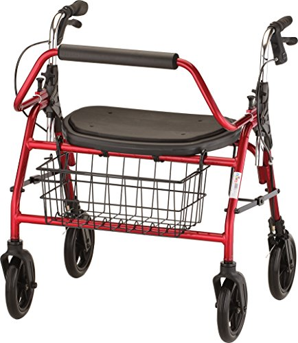 NOVA Medical Product Mighty Mack Heavy Duty Rolling Walker, - Bariatric Scooters Mobility