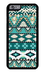 iZERCASE iPhone 6 PLUS Case Teal Aztec Pattern RUBBER CASE - Fits iPhone 6 PLUS T-Mobile, Verizon, AT&T, Sprint and International