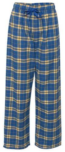 Price comparison product image Fashion Flannel Pajama Pant, Royal/Gold, XL