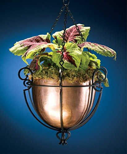 H Potter Hanging Copper Patio Garden Flower Planter Basket by H Potter (Image #4)