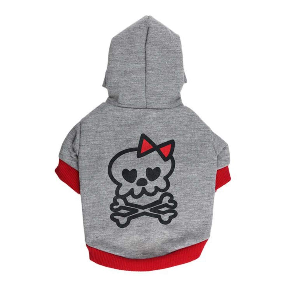 Red S Red S Huayue Pet Sweater Dog Hooded Clothing Prosperous Pity (color   Red, Size   S)