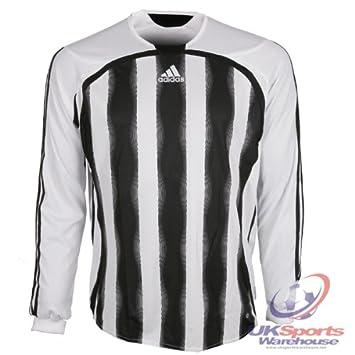 Adidas Aquilla Climacool Manga Larga Camiseta De Fútbol Jersey RRP £25 Negro/Blanco,