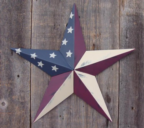 Cheap Heavy Duty Metal Star 10″ Painted Rustic Olde Glory. These Metal Stars Add a Touch of Country to Your Home Decor. You Will Not Be Disappointed with the Quality and Workmanship on These Stars. They Are Handcrafted Out of 22 Gauge Galvanized Steel and Will Not Rust. Add a Barnstar to Your Home Decor Today.