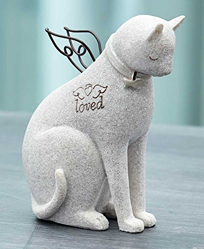 The Lakeside Collection Faithful Angel by Robin Davis Cat Figurine -
