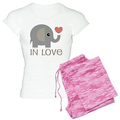 a3e3d2f6d Amazon.com  CafePress - Couples In Love Elephant - Womens Novelty ...