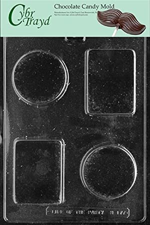 Cybrtrayd M177 Rectangle/Circle Bar Miscellaneous Chocolate Candy Mold