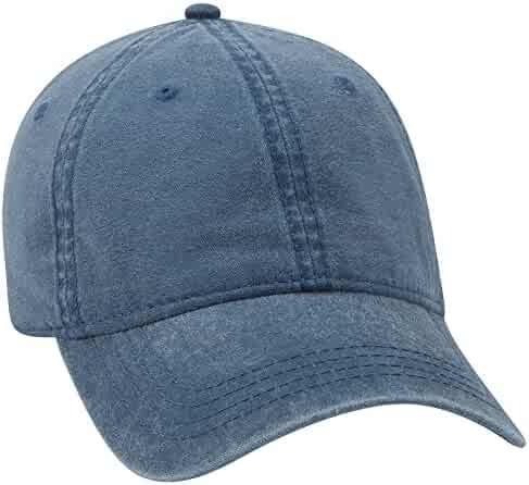 b21876fe3be2d5 OTTO 6 Panel Low Profile Garment Washed Pigment Dyed Baseball Cap