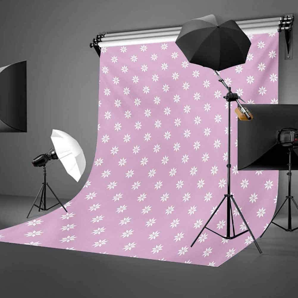 Mauve 10x15 FT Photo Backdrops,Abstract Daisy Chamomile Pattern Classic Love Florets Kitsch Petals Art Image Background for Child Baby Shower Photo Vinyl Studio Prop Photobooth Photoshoot