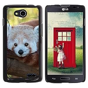 Qstar Arte & diseño plástico duro Fundas Cover Cubre Hard Case Cover para LG OPTIMUS L90 / D415 ( Little Red Panda Bear Face Tree Tail Animal)