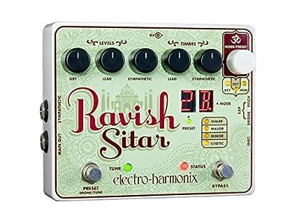 Electro Harmonix 665182 efecto de guitarra eléctrica con sintetizador Filtro Ravish Sitar