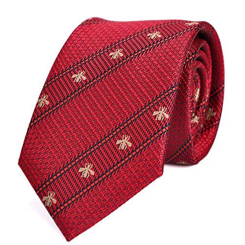 LUISDAN Stripe Tie Jacquard Woven Microfiber Formal Men's 2.75