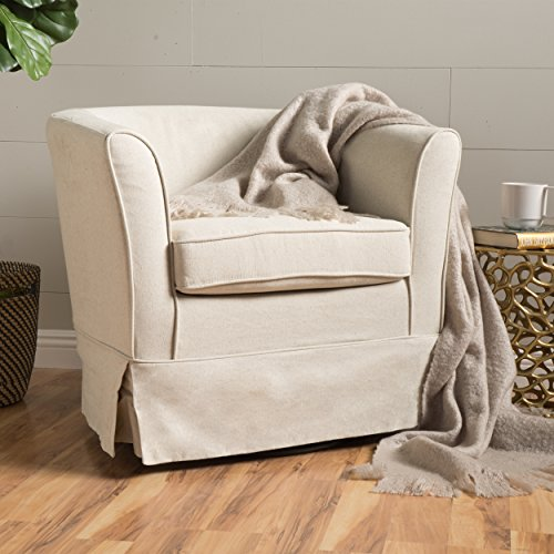 Christopher Knight Home 298869 Cecilia Swivel Chair, Natural ()