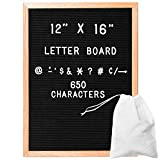 Felt Letter Board with 650 Letters, Numbers & Symbols - 12x16 Inch Changeable Message Board with Oak Wooden Frame, Plus Free Letter Bag: more info