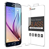 Galaxy S6 Screen Protector ,Trianium Galaxy S6 Glass Screen Protector [Tempered Glass] Thinnest [0.2mm] Premium Ballistic Protectors,99% Touch Accurate Perfect Fit for Galaxy S6