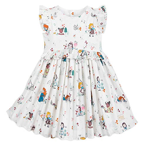 Disney Animators' Collection Dress for Girls Size 7/8 Multi (Kid Collection Girls Dress)