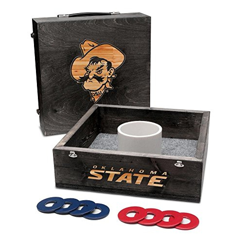 Victory Tailgate Oklahoma State University Cowboys Washer Game Set Onyx Stained