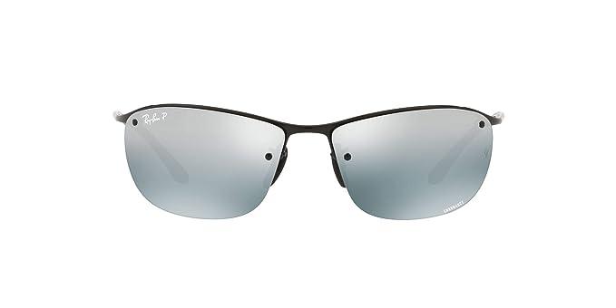 Ray-Ban 0Rb3542 Gafas de sol, Shiny Black, 63 para Hombre: Amazon ...