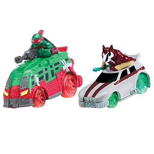 Teenage Mutant Ninja Turtles T-Machines Raphael in Shellraiser and Splinter in Rat Attack Diecast Vehicle (2-Pack) -