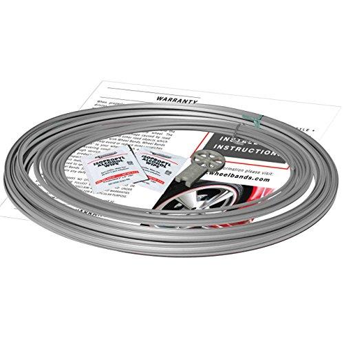 RimPro-Tec Wheel Rim Protection Full Kit, Set of 4 x Silver Bases and Silver - Full Rims