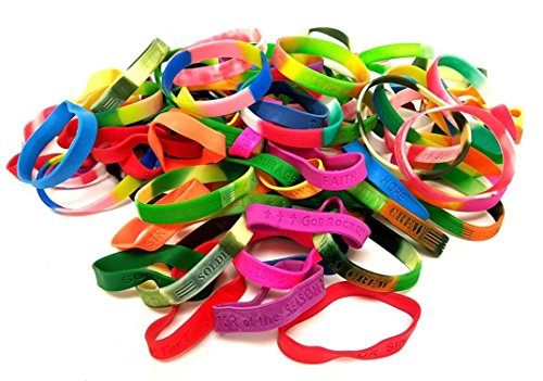 Dondor Religious Bracelets, By (100 Piece Pack!) -