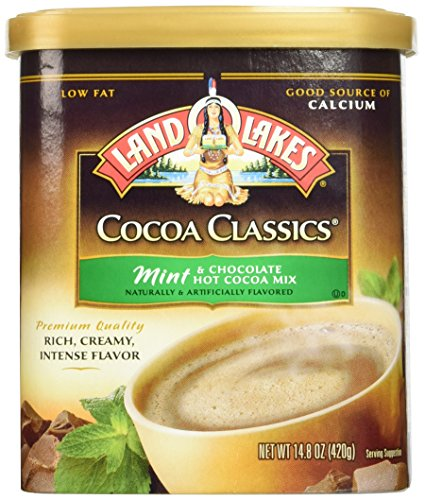 Land O'Lakes Hot Cocoa Classics Mix: Mint 14.8 ounce  (2 Pack) by Land O Lakes