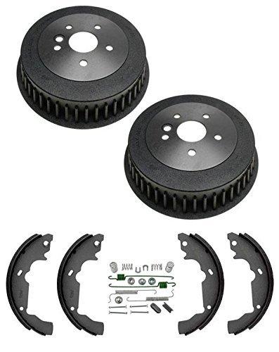 Mac Auto Parts 14529 98-03 Toyota Sienna Van Rear Brake Drums Brake Shoe & Springs 358 BS729 (Toyota Sienna Brake Shoe)