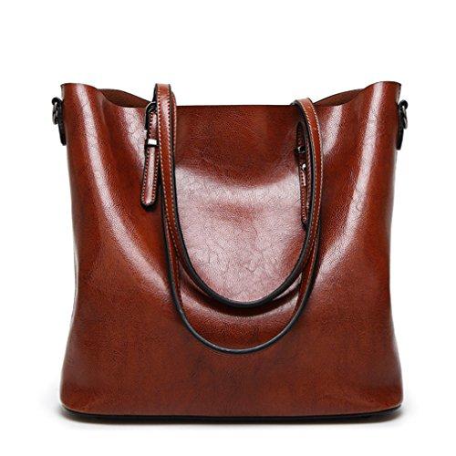 St.Roma - Bolso mochila  de Piel Sintética para mujer Talla única marrón