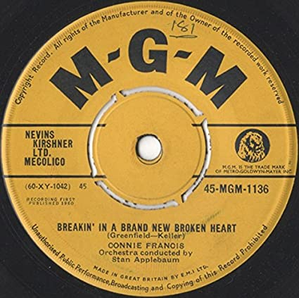 CONNIE FRANCIS, BREAKIN IN A BRAND NEW BROKEN HEART, 7 ...