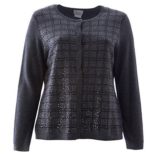 - Marina Rinaldi Women's Manarola Printed Cardigan X-Large Grey