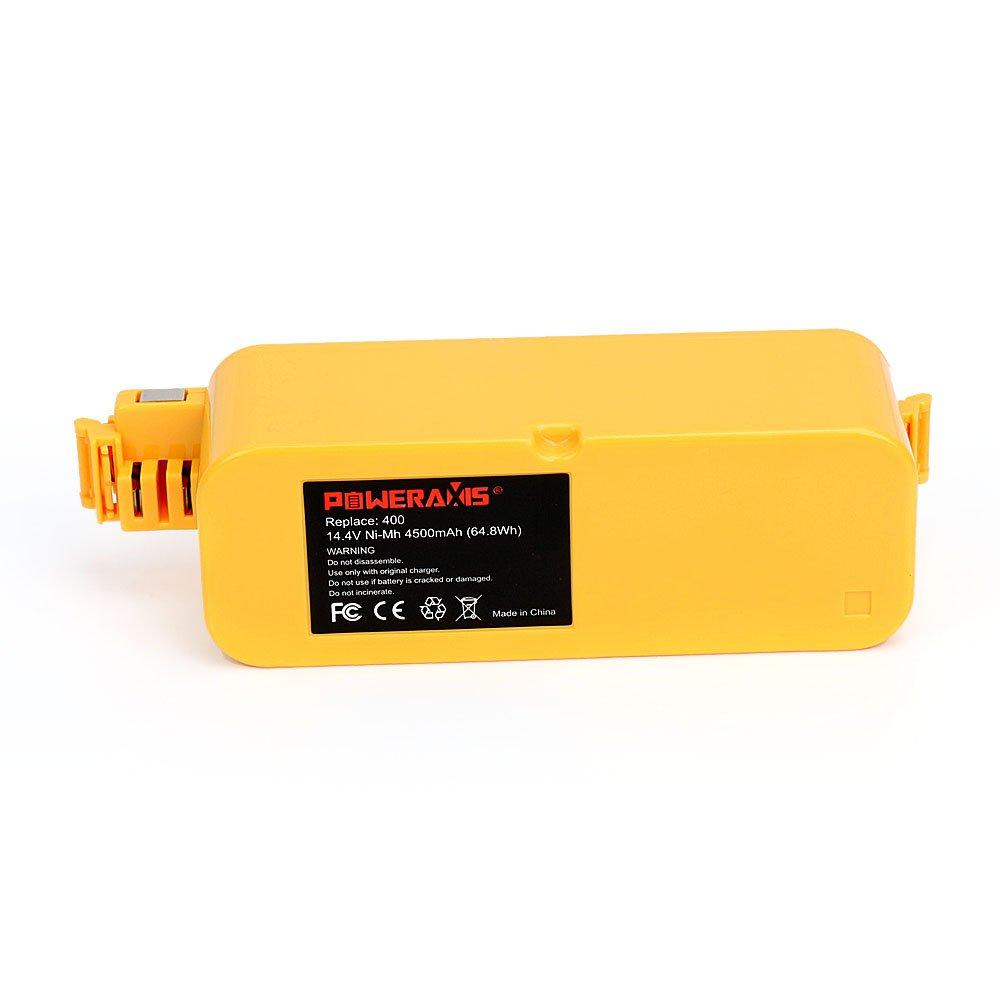 POWERAXIS 14.4V 4500mAh Ni-MH Aspiradora Bateria bateria para iRobot Roomba 400 Series 400 405 410 415 416 418 4000 4100 4105 4110 4130 4150 4170 4220 4225 ...