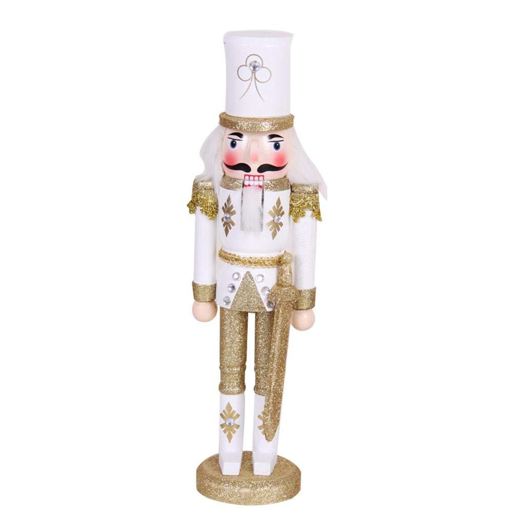30CM Casse-Noisette Marionnettes De Noë l Dé coration En Bois De Noë l Casse-Noisette Roi Soldat Marionnette Poupé es Cadeau De Vacances LeKing