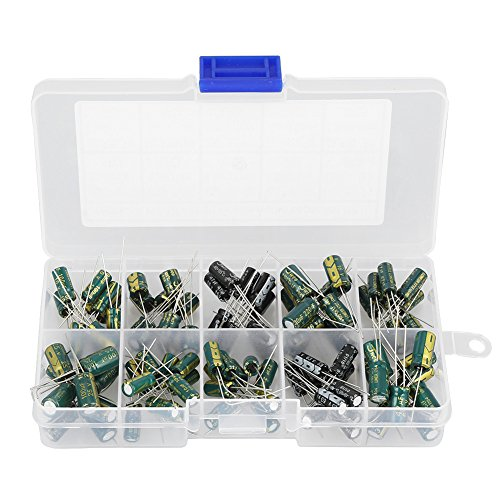 100pcs DIY High Grade Audio Capacitor Assorted Electrolytic Capacitors Kit 10 Values10V-63V 10uf-470uf 47uf Radial Electrolytic Capacitor