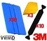 VViViD 3M Vinyl Wrap Bulk Toolkits Multi-Piece Applicator Toolkit (10squeegee,10felt,3detailers)