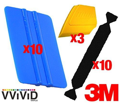 VViViD 3M Vinyl Wrap Bulk Toolkits Multi-Piece Applicator Toolkit (10squeegee,10felt,3detailers) by VViViD (Image #1)