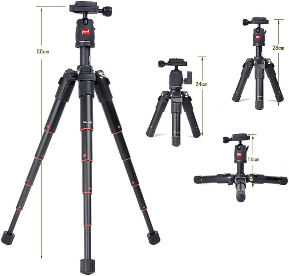 Mengen88 Portable Camera Tripod Mini Retractable Folding 360 Degree Panoramic Shooting Tripod with Stand for Sports Camera Phone Accessories