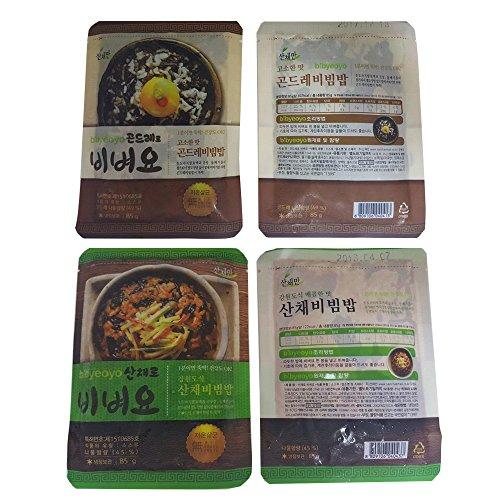 Mountain Province Costume - sanchaeman Bibyeoyo Ready to Eat Seasoned Vegetables, 85g, Perilla Oil Flavor / Bibimbap Mix, 10+10 pouches