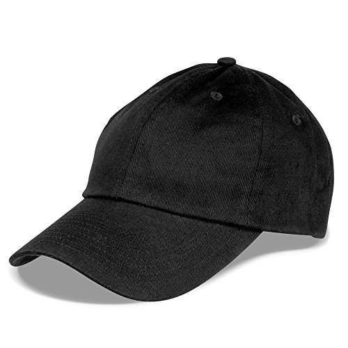 Man Ball Cap (Dalix Unisex Unstructured Cotton Cap Adjustable Plain Hat, Black)