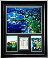 "Pebble Beach Golf Course- The U.S. Open Collectible   Framed Photo Collage Wall Art Decor - 12""x15"""