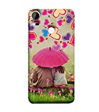For HTC Desire 10 Pro couples Printed Cell Phone Cases, umbrella Mobile Phone Cases ( Cell Phone Accessories ), garden Designer Art Pouch Pouches Covers, romantic Customized Cases & Covers, hearts Smart Phone Covers , Phone Back Case Covers By Cover Dunia