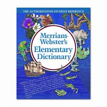 Merriam Webster Hardcover Elementary Dictionary, Grades 3-5 (MER6763) by Merriam-Webster