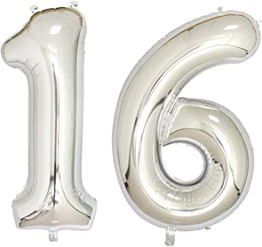 Amazon.com: 40 inch Jumbo Plata Número globos para fiesta de ...