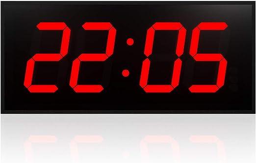 DSHUJC Reloj Digital de Pared LED Reloj de Pared de Doble Cara ...