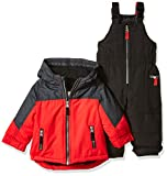 Carter's Baby Boys Heavyweight 2-Piece Skisuit Snowsuit, Holiday Rojo/Black, 24M