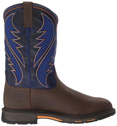 Chaussures Travail Ariat Oily cobalt Venttek De Western Workhog Brown Distressed Hommes PqqAd