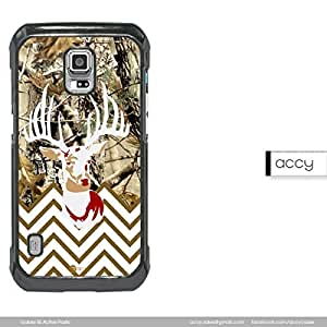 Real Tree Camo Buck Head Thin White Chevron Samsung Galaxy S5 Active Cell Phone Case